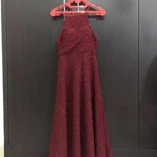 Dress Merah Midi Skirt Import Imlek Chinese New Year
