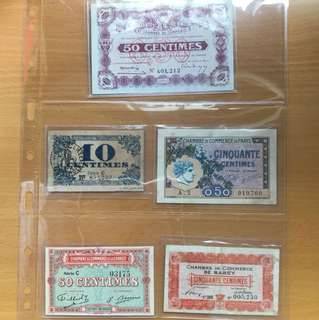 Antique banknotes (French)