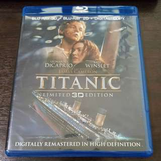 Titanic 3D and 2D Bluray combo New and sealed | 4 discs set