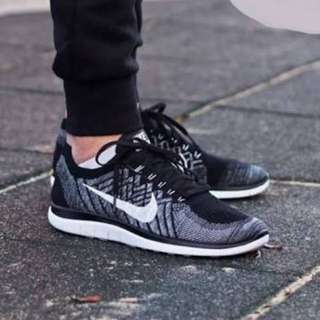 nike free 4.0 flyknit oreo running shoes
