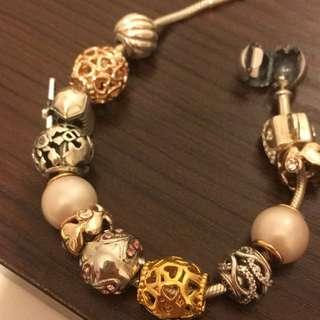 Pearl bead大地貝殼珠Morocco 銀珍珠Charm