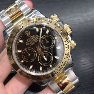 全新Rolex 116503 BLK  金鋼Daytona