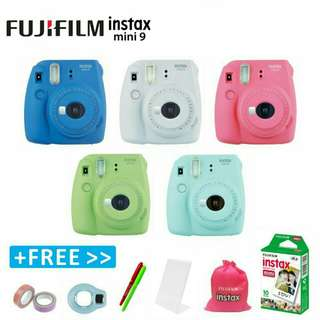 Fujifilm Instax Mini 9 Instant Camera Polaroid (Buy 1 Free 5 Items)