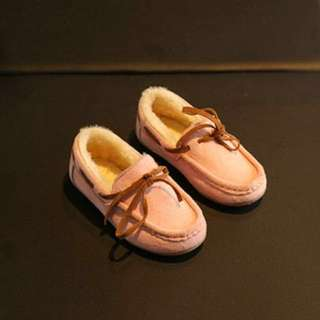 Pink Winter Loafers - Size 26