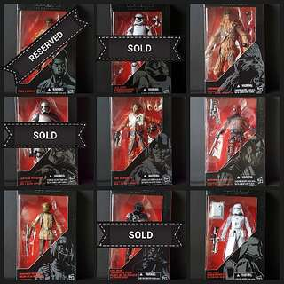 STAR WARS THE BLACK SERIES TFA COLLECTION