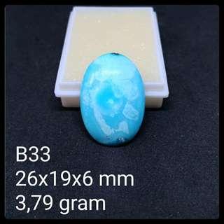 Batu Pirus Persia B33 Natural Pyrus Turquoise Akik