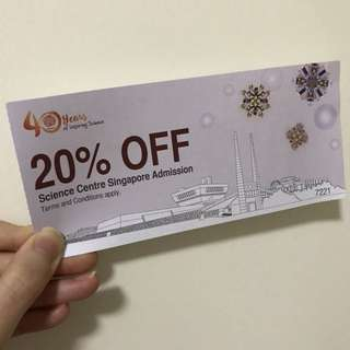 Science Centre 20% off