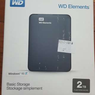 WD 2TB portable hard disk
