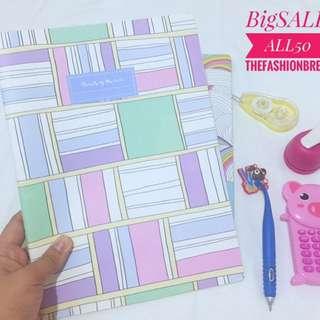 Cute pastel notebook