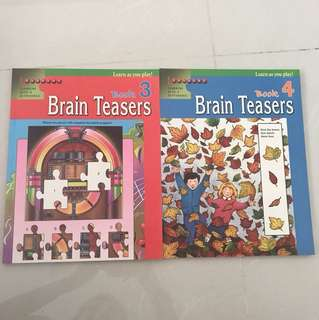 Brain Teasers Book 3 and 4