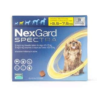 Nexgard spectra 3.5-7.5 kg, 3 Tablet Pack