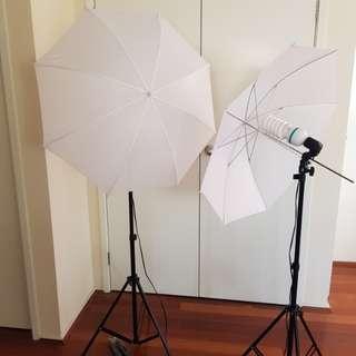 2 x Umbrella Lights