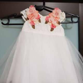 Monsoon Lace tulle aqiqah dress
