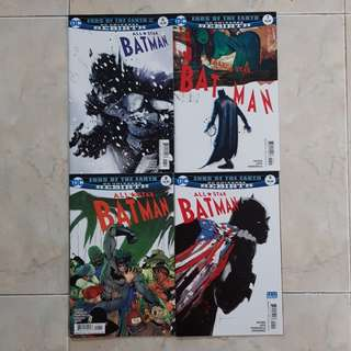 "All Star Batman (DC Universe Rebirth Comics 4 Issues, #6 to 9, complete story arc on ""Ends of the Earth"")"