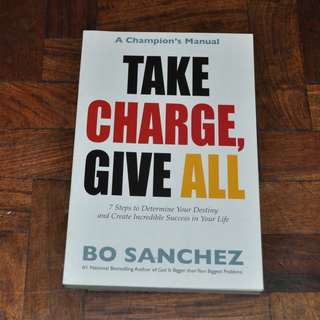Take Charge and Give All by Bo Sanchez (Shipping Included)