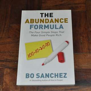 The Abundance Formula by Bo Sanchez (Shipping Included)