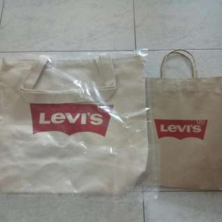 BN Levi's Tote Bag With Free Paper Bag