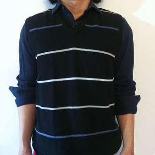 FREESHIP | Giordano Knit Stripes Vest