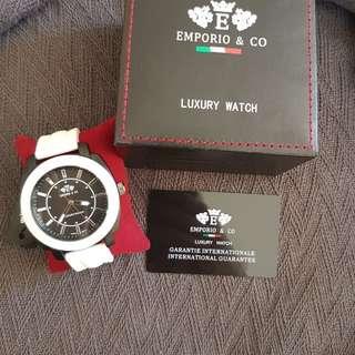Emporio & Co Mens luxury watch White