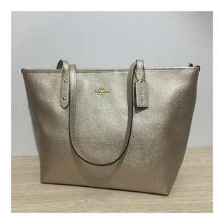 Coach City Tote Bag Platinum Original