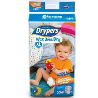 DELIVER 3 for $35 Drypers XL size