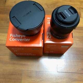 Sony FE 28mm f2 and Fisheye convertor
