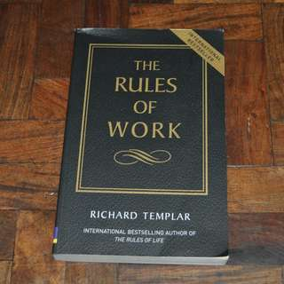 The Rules of Work by Richard Templar (Shipping Included)
