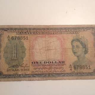Malaya one dollar  A/4