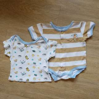 [USED] Baby Romper and Top 3M - 6M