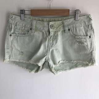 Rue 21 Mint Denim Shorts