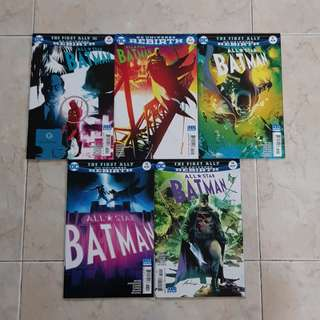 "All Star Batman (DC Universe Rebirth Comics 5 Issues, #10 to 14, complete story arc on ""The First Ally"". #14 is the final issue for this title series)"