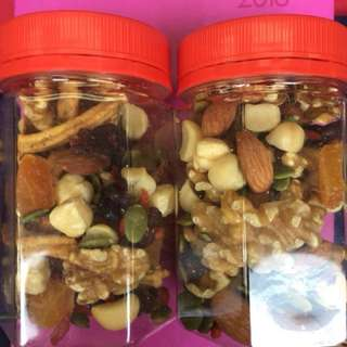 CNY Goodies mixed nuts (2 X 100g bottles)