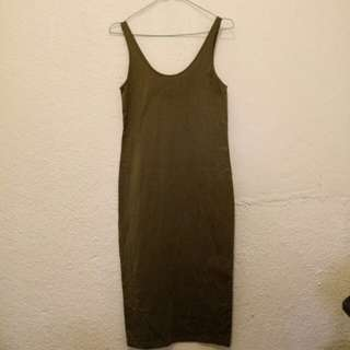 Forever 21 Bodycon Dress (Army Green)