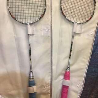 Babola badminton Racquets with shuttlecocks