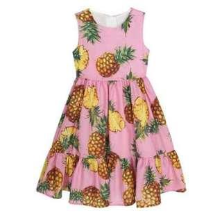 Kids Pineapple Dress