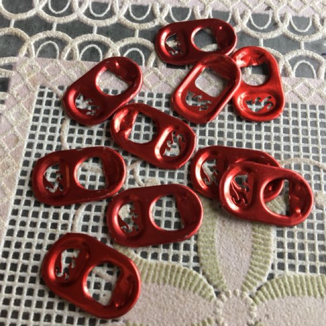 10pcs of red can tab