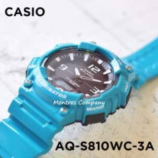 Montres Company香港註冊公司(25年老店) CASIO standard AQ-S810 AQ-S810WC AQ-S810WC-3 AQ-S810WC-3A 三隻色都有現貨 AQS810 AQS810WC AQS810WC3 AQS810WC3A