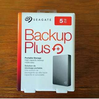 5TB Seagate Backup Plus HDD Hard Disk Portable Drive