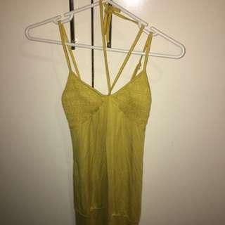 Yellow halter beach dress