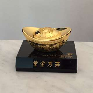 MBS Gold Ingot Marina Bay Sands Display Figurine Collectable