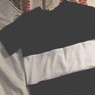 black zipper shirt