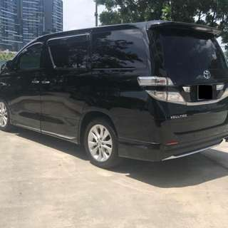Vellfire for rent   Car rental