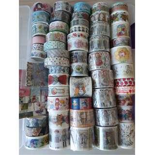 50 designs Washi Tape Samples