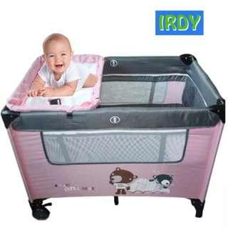 IRDY CRIB & PLAYPEN in one