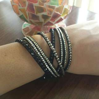 Swarovski Inspired Double Wrap Bracelet