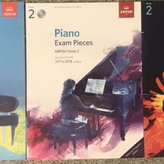 Piano Grade 2 ABRSM 2017/18 bundle with CD