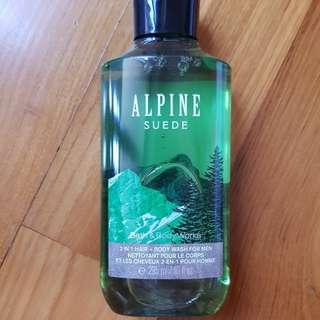 Bath & Body Works Alpine Hair and Body Wash for Men full size 295ml