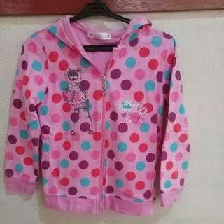Pink polka dot jacket