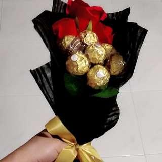 Ferrero rocher rose bouquet
