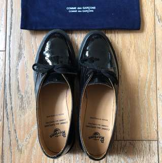 Comme des Garcons x Dr Martens Patent Lace up Shoes